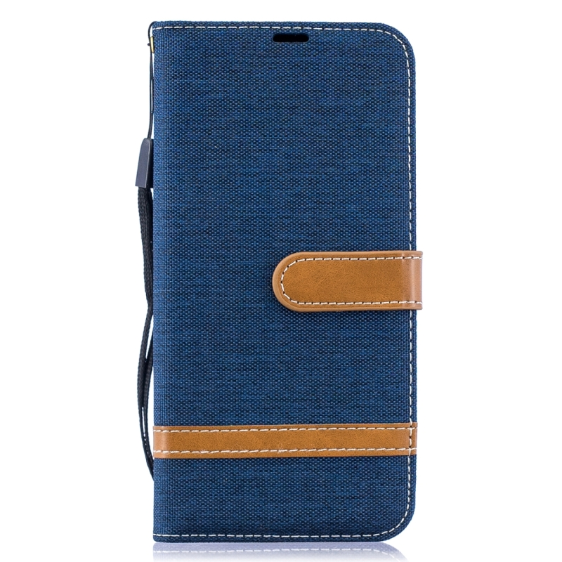 Color Matching Denim Texture Leather Case For Galax1 A50(dark Blue)